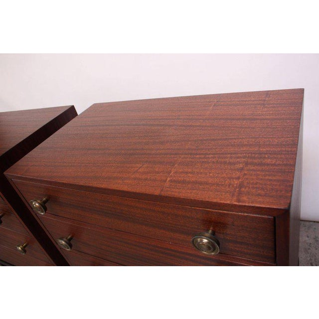 Pair of Midcentury Stained Mahogany Chest of Drawers - Image 6 of 9