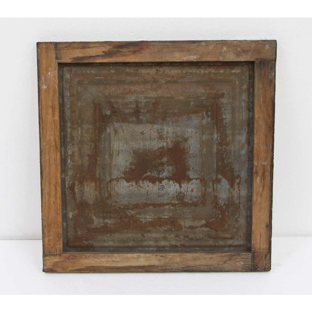 2010s Mladen Novak Acrylic Frog Painting on Antique Tin Panel For Sale - Image 5 of 6