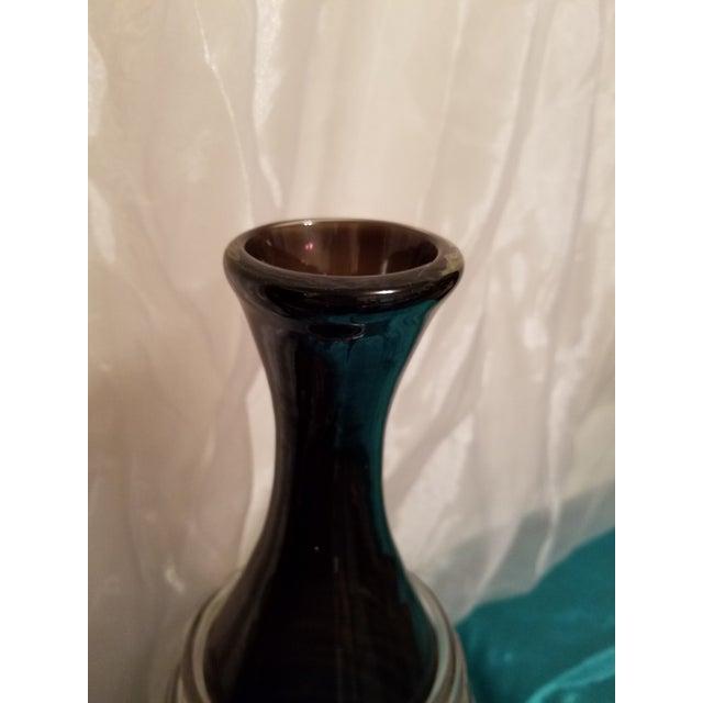 Glass Murano Spagetti Art Glass Modern Vase For Sale - Image 7 of 11