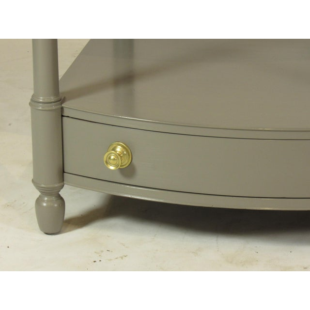 Empire 1950s Empire Baker FurnitureGray Lacquer End Tables - a Pair For Sale - Image 3 of 8