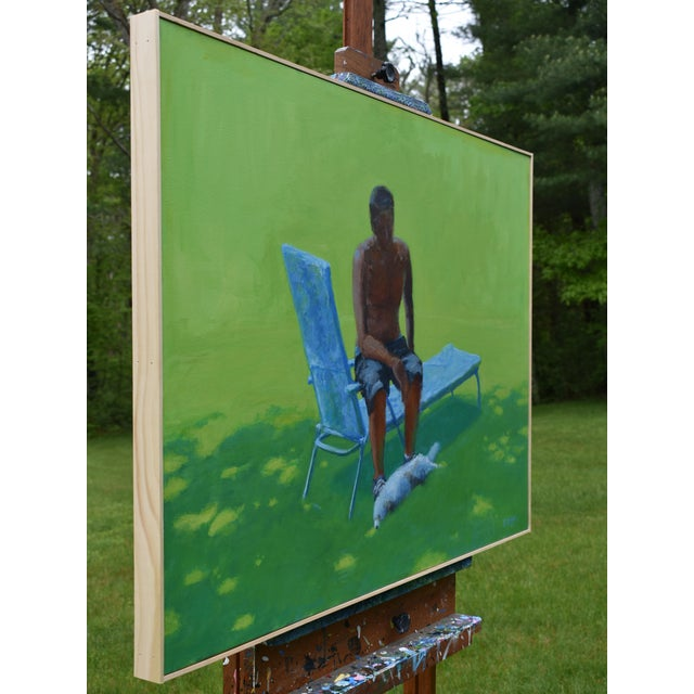 """2010s """"Resting in the Shade"""", Stephen Remick Contemporary Painting For Sale - Image 5 of 13"""