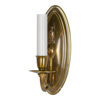 Traditional Antique Brass Sconce For Sale