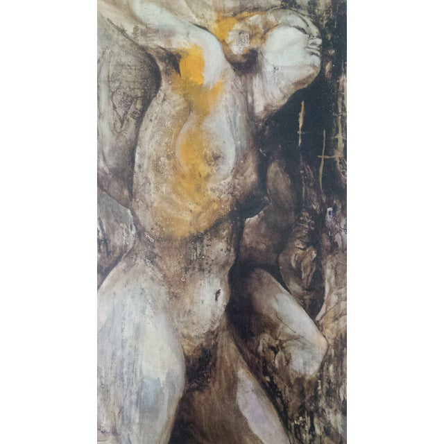 Modern Art Original Acrylic Painting of a Nude Female - Image 4 of 6