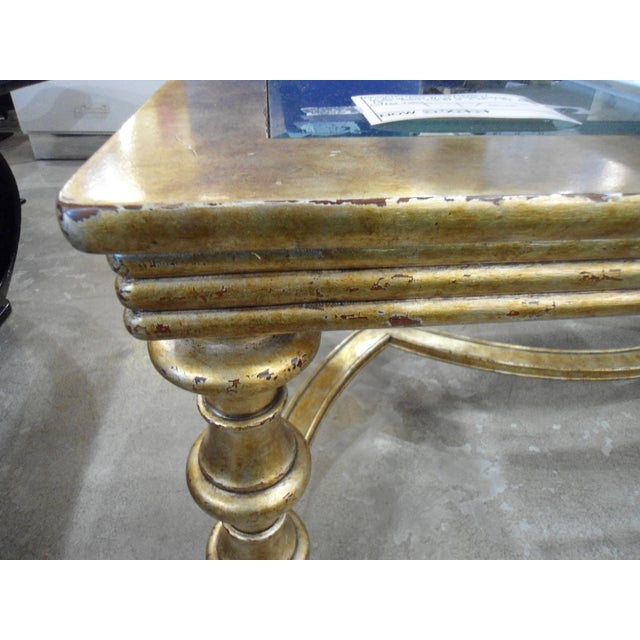 La Barge Gold Wood Framed Glass Top Coffee Table - Image 3 of 7