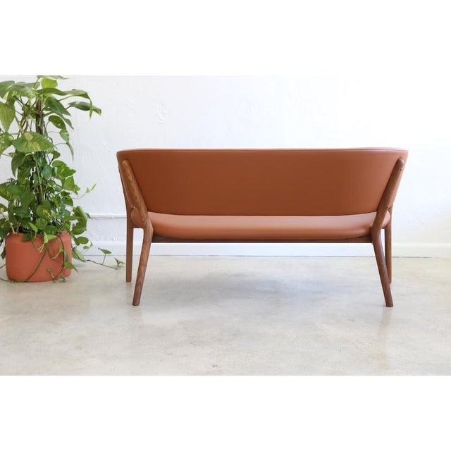Danish Modern Mid-Century Danish Nanna Ditzel for Snedkergaarden Shell Sofa For Sale - Image 3 of 9