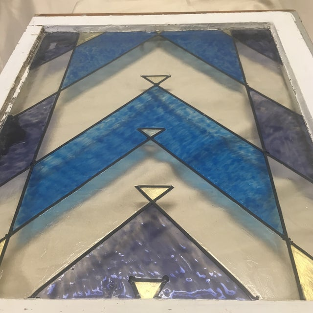 1890s Antique Arts and Crafts Stained Glass Window Architectural Salvage For Sale - Image 10 of 13