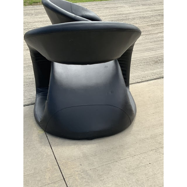 1990s 1990s Vintage Sculptural Sinuous Cantilever Chairs - A Pair For Sale - Image 5 of 10