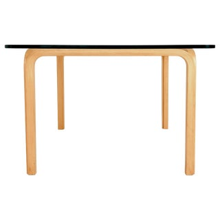 Alvar Aalto Artek Y805 Glass and Bentwood Birch Coffee or Cocktail Table For Sale