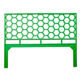 Honeycomb Headboard King - Bright Green For Sale