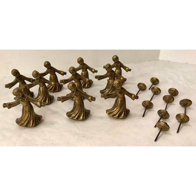 Gold Vintage Ladies Dancing Candle Holders - Set of 10 For Sale - Image 8 of 10
