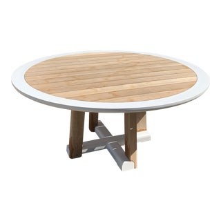 Contemporary Sutherland Mita Round Dining Table For Sale