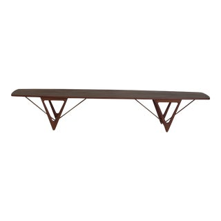 Long Danish Teak Coffee Table by Kurt Ostervig For Sale
