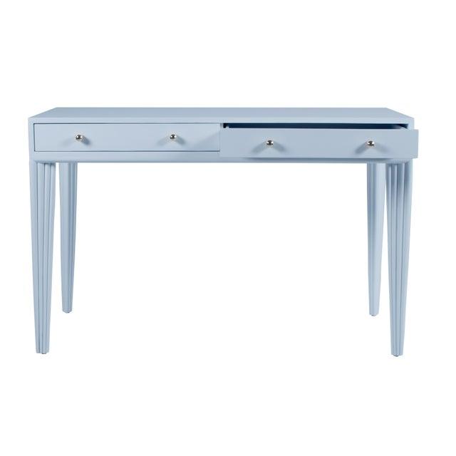 Contemporary Barcelona Desk - Blue For Sale - Image 3 of 6