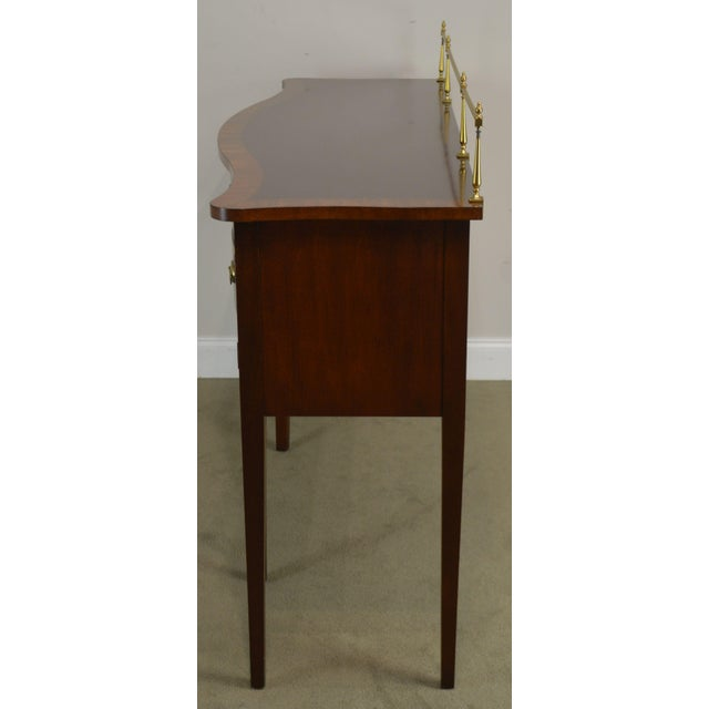 Ethan Allen Ethan Allen 18th Century Collection Mahogany Inlaid Hepplewhite Style Sideboard For Sale - Image 4 of 13