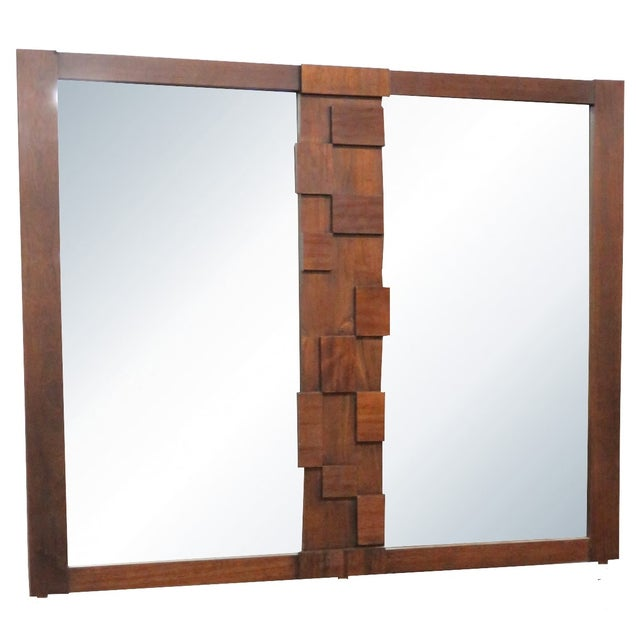 Lane Paul Evans-Style Brutalist Mirror - Image 1 of 3