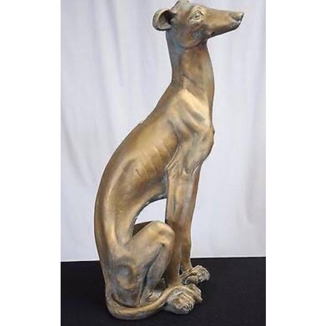 American Classical Life-Size Greyhound Dog Statue For Sale - Image 3 of 7