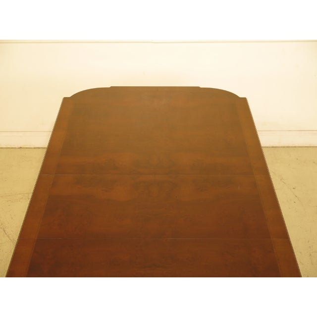 EJ Victor Regency Burl Walnut Dining Room Table For Sale - Image 9 of 11