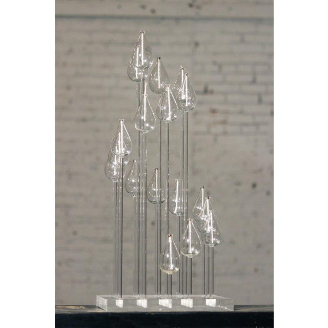 Mid-Century Glass & Lucite Oil Candelabra - Image 8 of 9