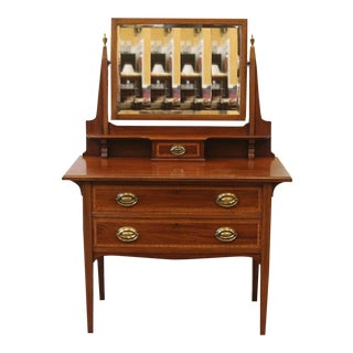 20th Century Edwardian Mahogany Dressing Table For Sale