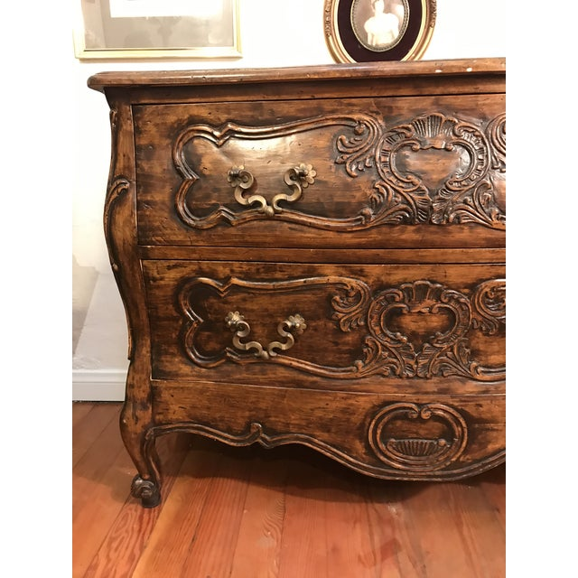 18th Century Style Carved French Provincial Dresser For Sale - Image 10 of 13