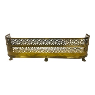 Mid 20th Century Regency Style Fireplace Fender For Sale