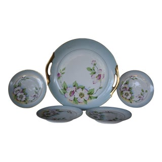 Vintage Royal Munich China Serving Platter & Dessert Plates - Set of 4
