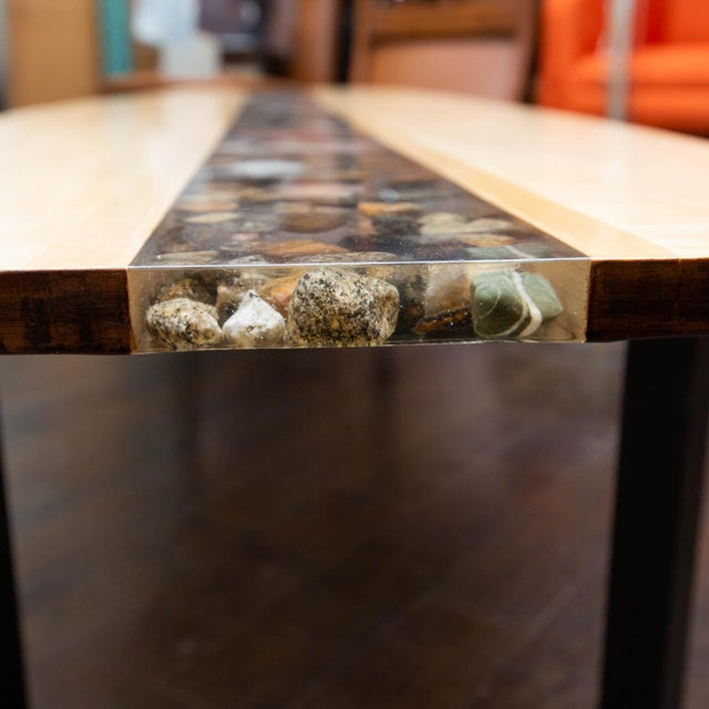 Custom Made Surfboard Coffee Table For Sale - Image 4 of 11