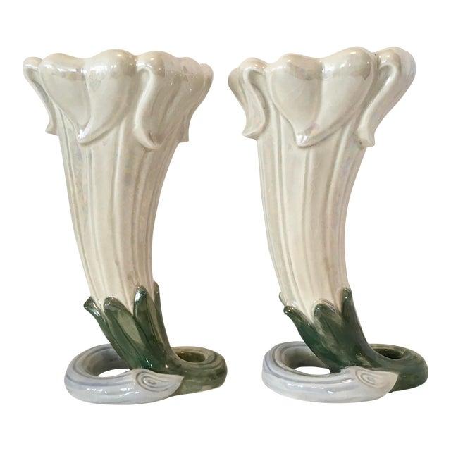 Fitz and Floyd Art Nouveau Vases 1978 For Sale