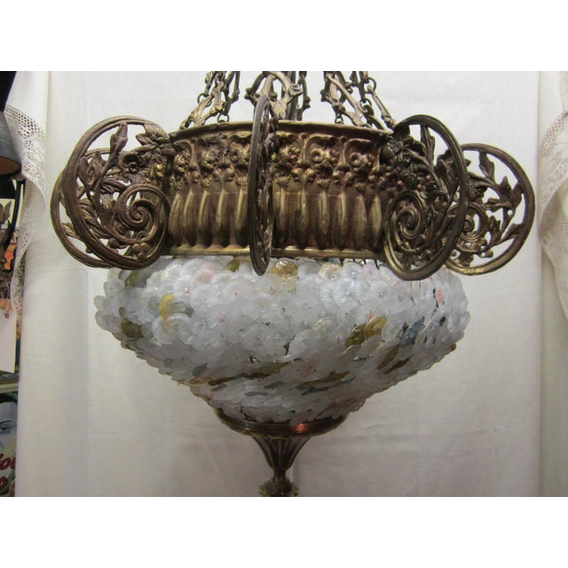 This is a beautiful and extra large scale 5 light chandelier with bronze accents that would be extraordinary in either a...