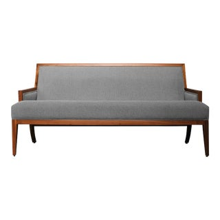 Costantini Belgrano Contemporary Rosewood Settee, Custom For Sale