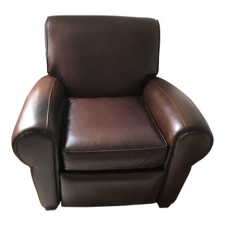 Chocolate Brown Rich Leather Recliner