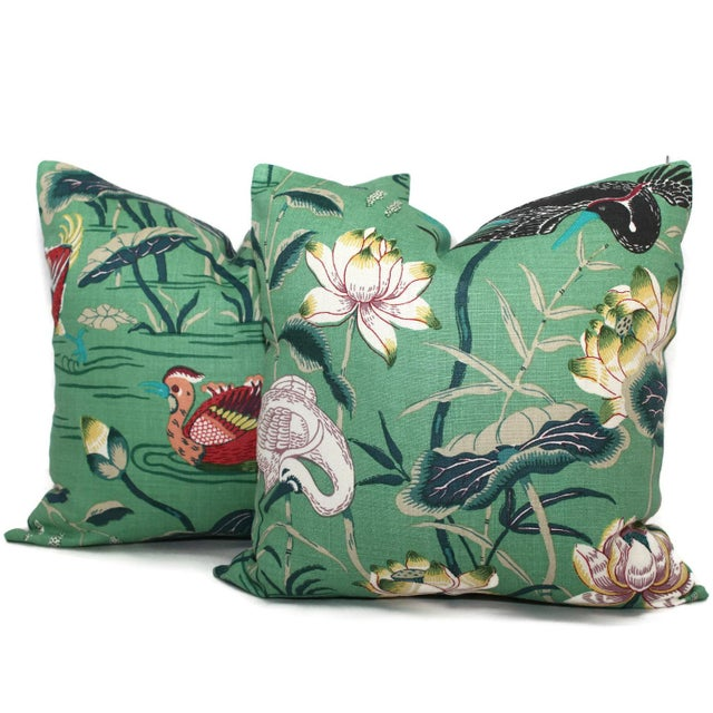 Add a pop o' green to your with this colorful pillow cover. Schumacher recently updated this classic chinoiserie themed...