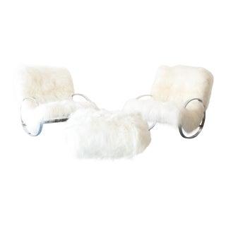 Selig Rocking Chair and Ottoman Set