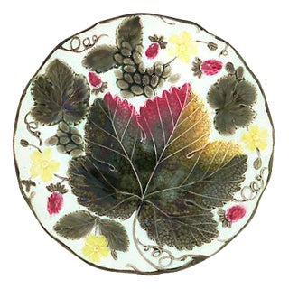 Wedgwood Majolica Strawberry & Grape Dish