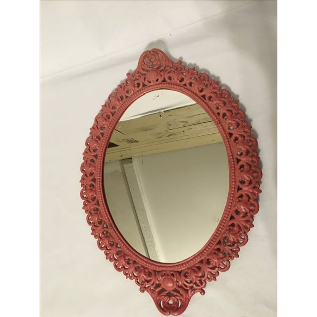 Emig Cast Iron Oval Mirror - Image 5 of 7