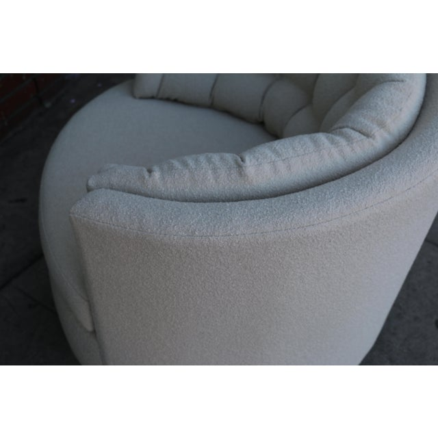Milo Baughman Style Swivel Chairs - A Pair For Sale - Image 9 of 10