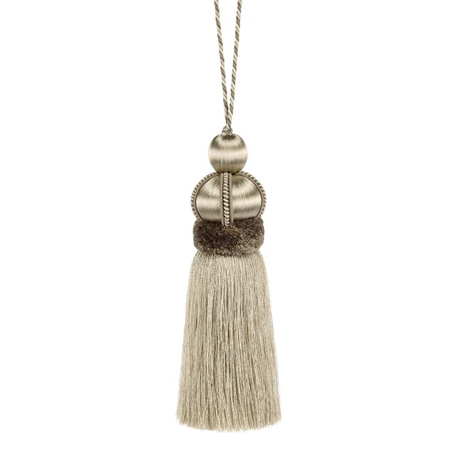"""Key Tassel With Cut Ruche - Tassel Height - 5.75"""" For Sale - Image 4 of 4"""