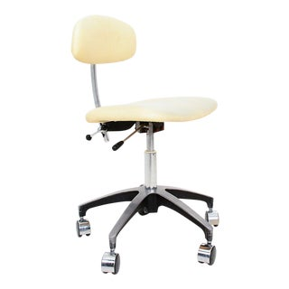Mid-Century Modern Industrial Adjustable Office Desk Chair Saarinen Knoll For Sale