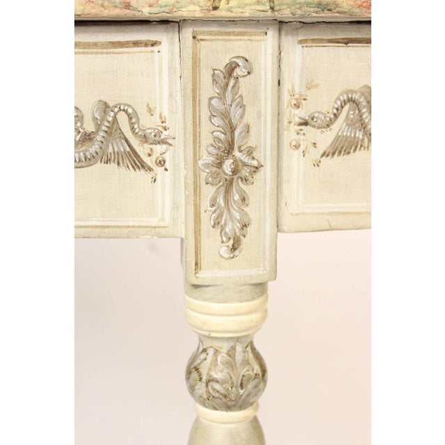 Louis Philippe Painted Demilune Console Table For Sale - Image 5 of 10
