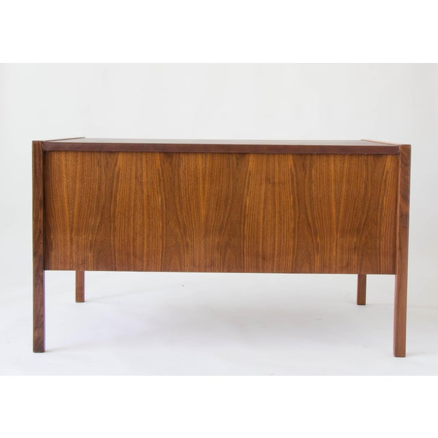 Jens Risom Walnut Desk with Leather Writing Surface For Sale - Image 9 of 11
