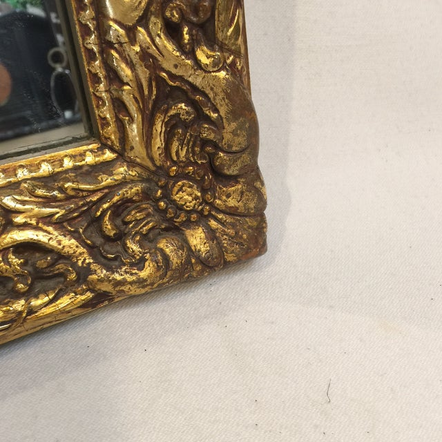 Traditional Carved Gold Gilded Mirror - Image 3 of 9