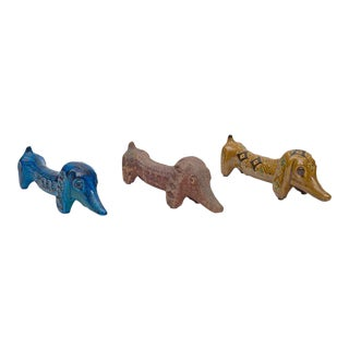 Bitossi Handcrafted Ceramic Dachshunds by Aldo Londi, Italy, 1960s For Sale