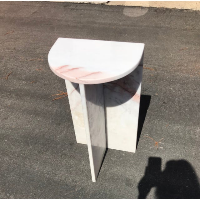 1970's Vintage Solid Marble Side Table For Sale - Image 12 of 12