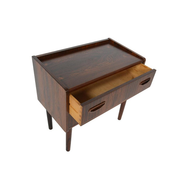 Danish Modern Two Drawer Rosewood Chest - Image 2 of 9