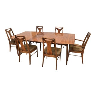 Mid Century Modern Kent Coffey Perspecta Dining Sets - 7 Pieces For Sale