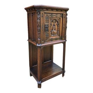 Antique French Cabinet Vestry Altar Wine Bar For Sale