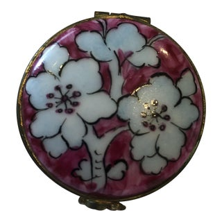 Limoges Pink and Blue Trinket Box