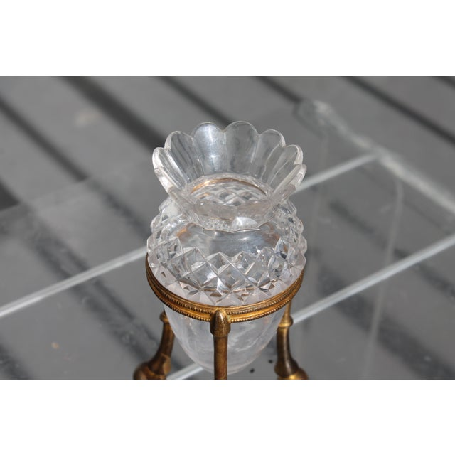 19th Century Famed Glass House F. & C. Osler Gilt Bronze Cut Crystal Epergne For Sale - Image 5 of 11