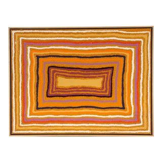 Sam Tjampitjin (Australian Aborigine, 1930-2007) Acrylic on Artist Board