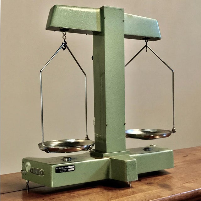 Antique Commercial Balance Scale by H. L. Becker in Brussels For Sale - Image 9 of 10